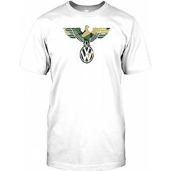 VW German Eagle Design - Camo -  Mens T Shirt