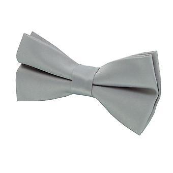 Dobell Mens Silver Bow Tie (Pre-Tied & Self-Tie)
