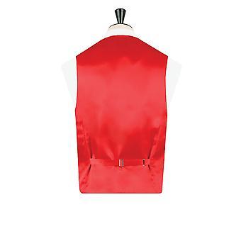 ・ ドベル メンズ赤タータン チョッキ レギュラー フィット 5 ボタン