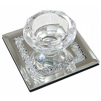 Mirror Base Tea Light Candle Holder Battery Operated Tea Light Candle Pack of 1 (CH4435)