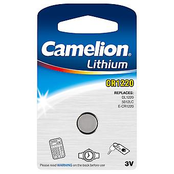 Camelion batteria CR1220 al litio pulsante Cell 3V