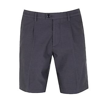 BOSS Slice Short Navy Textured Chino Shorts