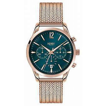 Henry London Stratford Rose Gold Plated Mesh Chronograph HL39-CM-0142 Watch