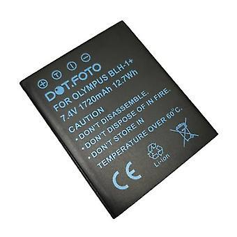 Dot. foto Olympus BLH-1 udskiftningsbatteri-7.4 v/1720mAh-Olympus OM-D E-M1 Mark II