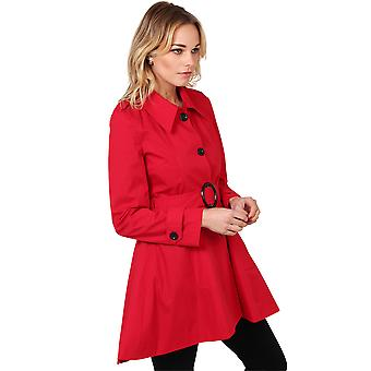 KRISP Womens Belted Trench Coat