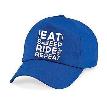Kids Bike Eat Sleep Ride Repeat Baseball Cap