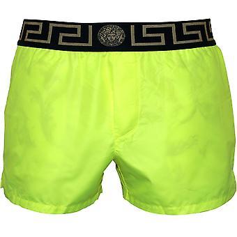 Versace Iconic Luxe Swim Shorts, Fluo Yellow