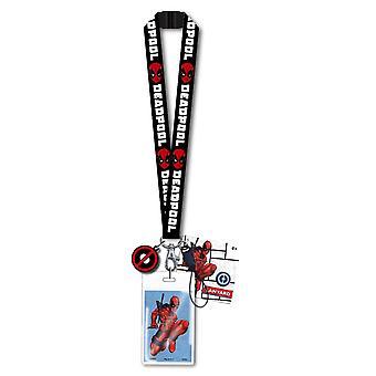 Lanyard w/Dangle Schlüsselanhänger - Marvel - Deadpool Geschenke Spielzeug neue 68106