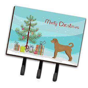 Tan Labradoodle Christmas Tree Leash or Key Holder