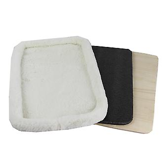 Rhodium serie faux fleece pad med krydsfiner base