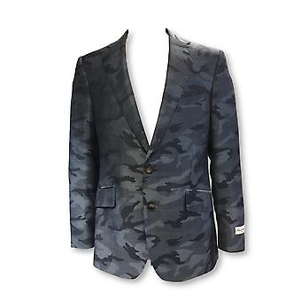Robert Graham Dushan jacket in navy camouflage