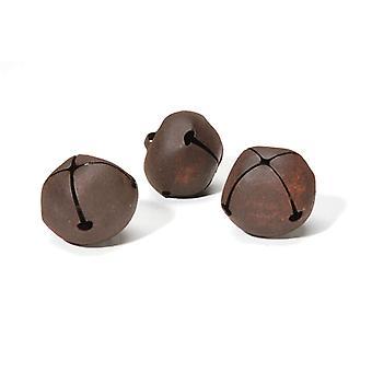 3 guizos enferrujado 40mm para artesanato | Sinos do ofício | Artes e ofícios