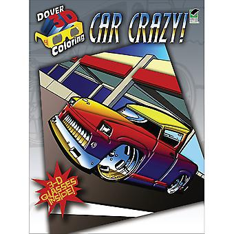 Dover Publications Car Crazy Coloring Book 3D Dov 48418