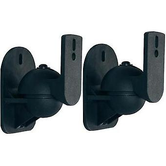 Speaker wall mount Swivelling Distance to wall (max.): 7 cm Dynavox Black 1 pair