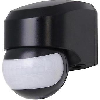 Wall PIR motion detector Kopp 823805017 180 ° Relay Black IP44