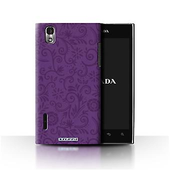STUFF4 Case/Cover for LG Prada 3.0/K2/P940/Purple Flower/Floral Swirl Pattern