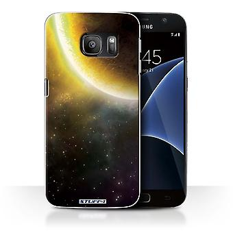 STUFF4 Case/Cover for Samsung Galaxy S7/G930/Yellow Eclipse/Space/Cosmos