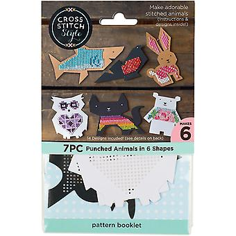 Animal Shapes Punched For Cross Stitch-6/Pkg 60046