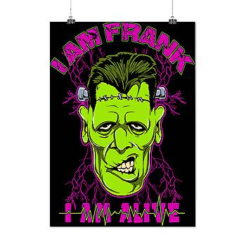 Matte or Glossy Poster with Alive Frank Dead Zombie Frankenstein   Wellcoda   *d2294