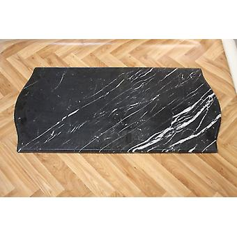 antik worked only waxed marble black 96x48x2cm Ma17