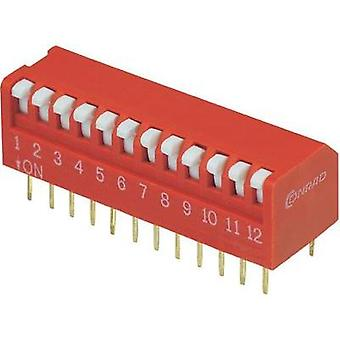 DIP switch Number of pins 12 Piano-type TRU COMPONENTS DPR-12