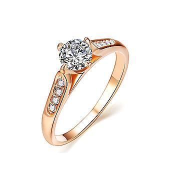 18K Rose Gold Plated 1ct Cubic Zirconia Ring