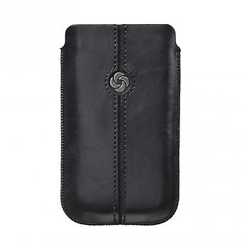 SAMSONITE DEZIR Mobile bag leather M Black to tex iP5 Highway