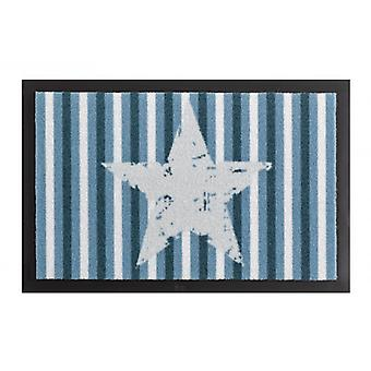 Doormat dirt trapping pad Star stripes Blau 40 x 60 cm