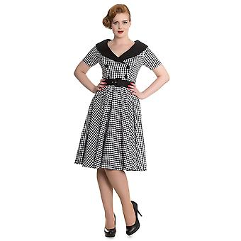 Hell Bunny Black & White Bridget 50's Dress 4XL