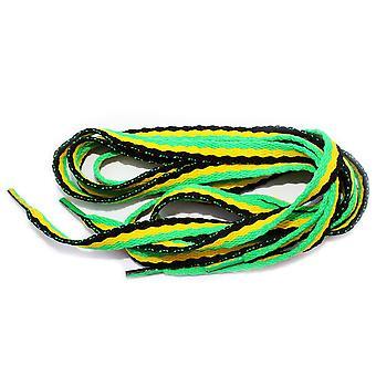 Flache Boot Emo Rasta Jamaika Shoe Laces - ein paar - 90cm