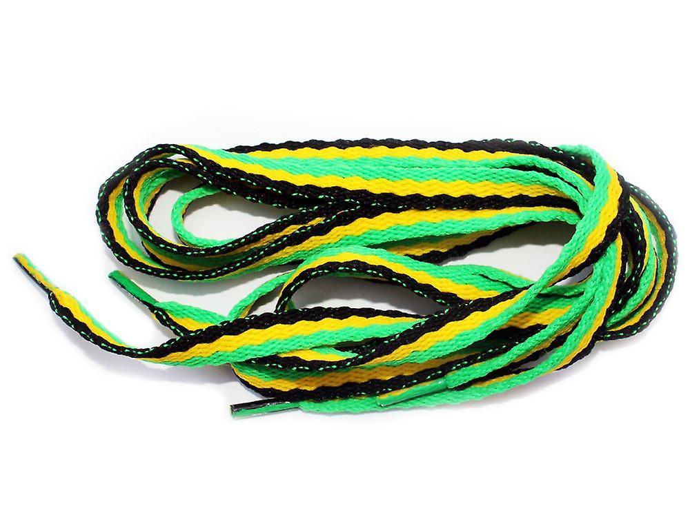 Flat Boot Emo Rasta Jamaica Shoe Laces - a pair - 90cm