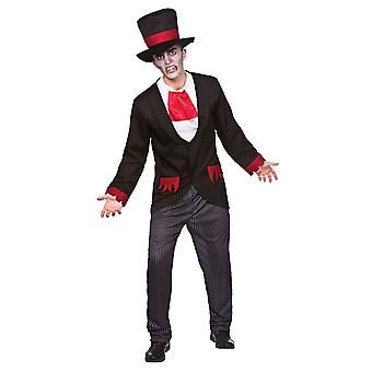 Wicked Adults Male Halloween Fancy Dress Victorian Vampire Costume