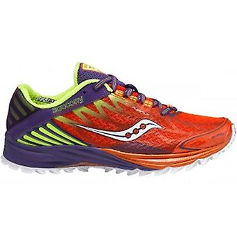 Peregrine 4 Minimalist Trail Running Shoes Orange/Purple/Citron Women's