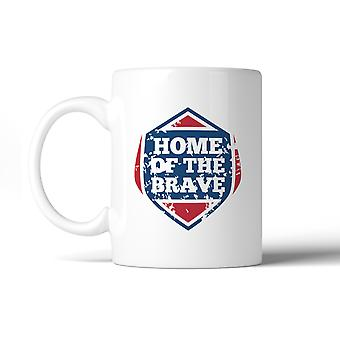 Home Of The Brave Unique Design Graphic Mug White Microwave Safe