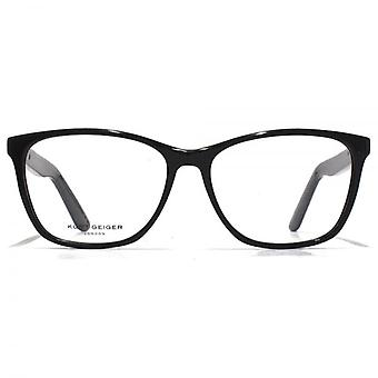 Kurt Geiger Ezra Large Acetate Rectangle Glasses In Black