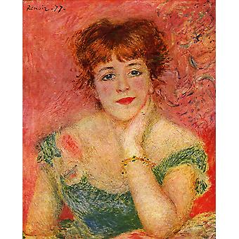 Pierre Auguste Renoir - Red and Green Poster Print Giclee