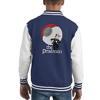 The Prisemon Pokemon The Prisoner Mash Up Kid's Varsity Jacket
