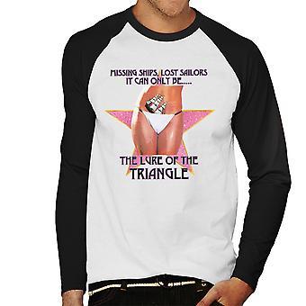 Verlockung des Dreieck Bikini Frau Herren Baseball T-Shirt Langarm