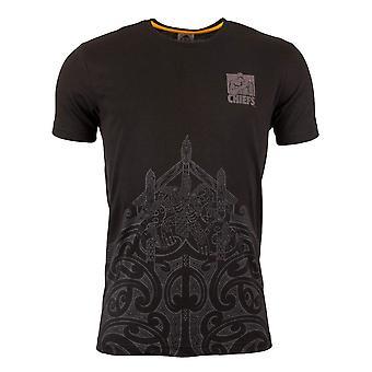 ADIDAS Chiefs rugby grafisk t-skjorte [svart]