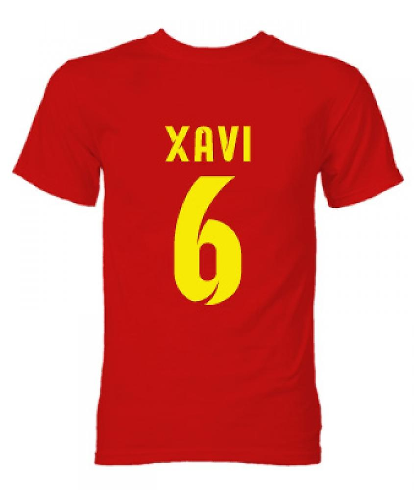 T-shirt Barcelone Xavi Hero (Red)