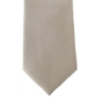 Michelsons of London Plain Ployester Tie - Taupe