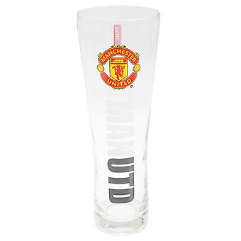 Manchester United FC Official Wordmark Football Crest Peroni Pint Glass
