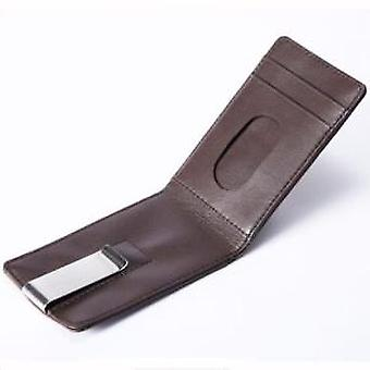 Brown Leather Continental Wallet & Money Clip