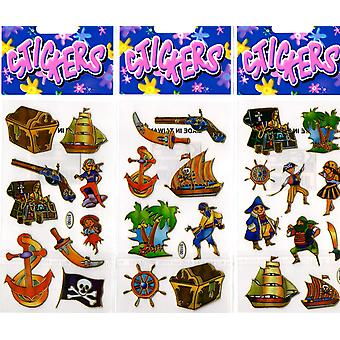 12 Packs of Pirate Stickers - 38791