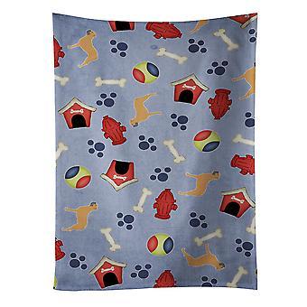 Carolines tesouros BB3971KTWL Bullmastiff cachorro casa coleção toalha de cozinha