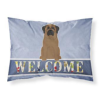 Bullmastiff Welcome Fabric Standard Pillowcase