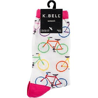 Novelty Crew Socks-Colorful Bikes NOVSOCKS-7H023