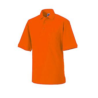 Russell Workwear Mens Heavy Duty Short Sleeve Polo Shirt