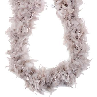 Turkey Feather Chandelle Boa 2yd-Barely There MD408-87