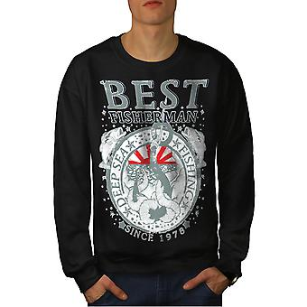 Beste visser Vintage mannen BlackSweatshirt | Wellcoda